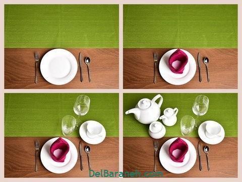 تزیین میز ناهار خوری عروس (۱)