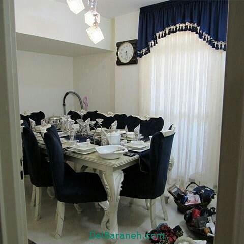 تزیین میز ناهار خوری عروس (۱۲)