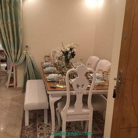 تزیین میز ناهار خوری عروس (۱۴)