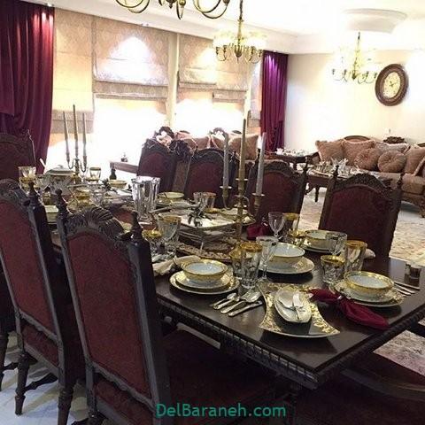 تزیین میز ناهار خوری عروس (۱۷)