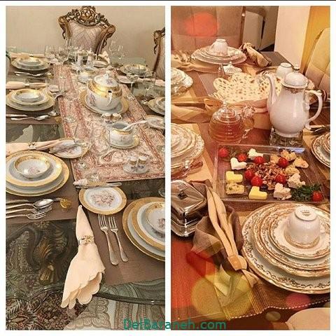تزیین میز ناهار خوری عروس (۱۸)