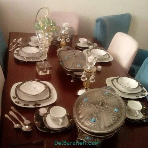 تزیین میز ناهار خوری عروس (۱۹)