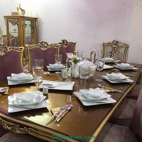 تزیین میز ناهار خوری عروس (۲۰)