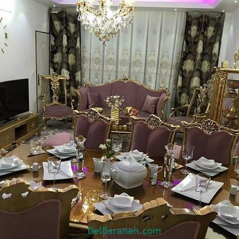 تزیین میز ناهار خوری عروس (۲۱)