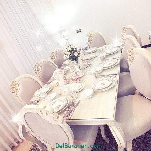 تزیین میز ناهار خوری عروس (۲۲)