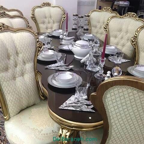 تزیین میز ناهار خوری عروس (۲۶)