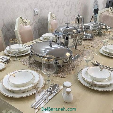 تزیین میز ناهار خوری عروس (۲۹)