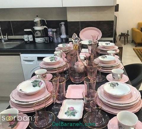 تزیین میز ناهار خوری عروس (۳۱)