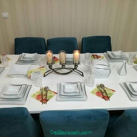 تزیین میز ناهار خوری عروس (۳۳)