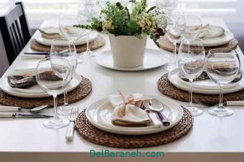 تزیین میز ناهار خوری عروس (۳۵)