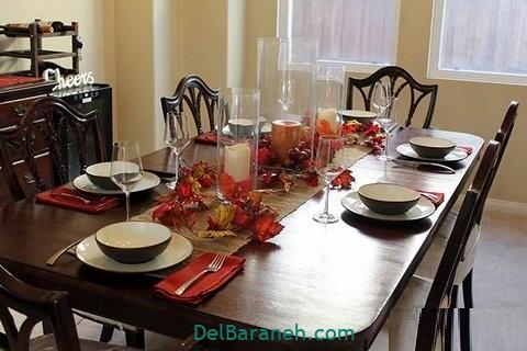 تزیین میز ناهار خوری عروس (۳۶)