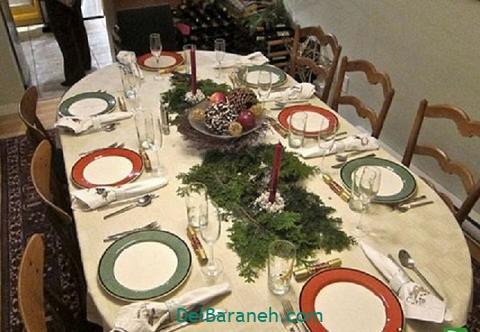 تزیین میز ناهار خوری عروس (۳۸)