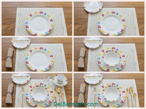 تزیین میز ناهار خوری عروس (۴)
