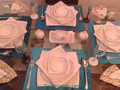 تزیین میز ناهار خوری عروس (۴۰)
