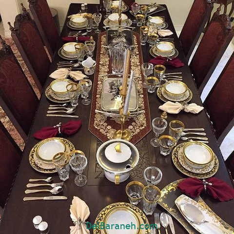 تزیین میز ناهار خوری عروس (۶)