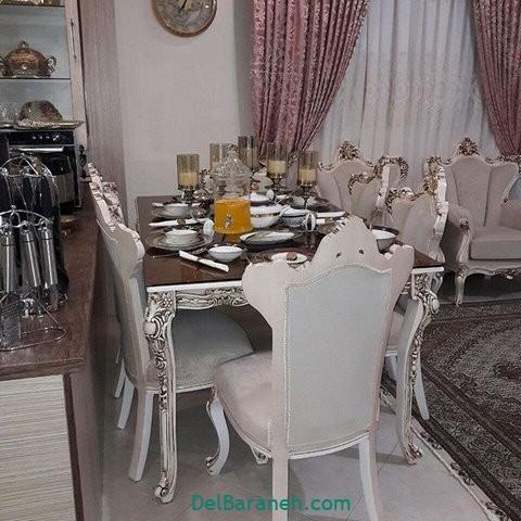 تزیین میز ناهار خوری عروس (۷)