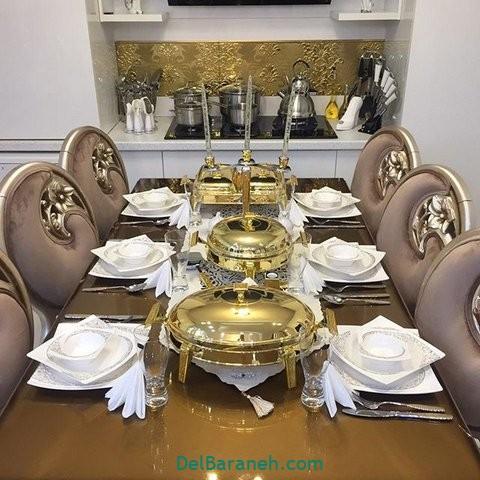 تزیین میز ناهار خوری عروس (۸)