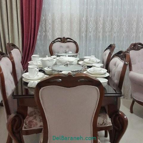 تزیین میز ناهار خوری عروس (۹)