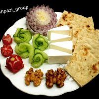 تزیین نون و پنیر و سبزی | ۴۰ مدل تزیین نان و پنیر سفره افطار و سفره عقد