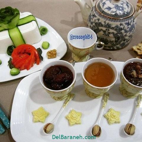 تزیین نون و پنیر افطار عقد (۱۱)