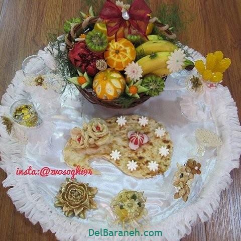 تزیین نون و پنیر افطار عقد (۱۲)