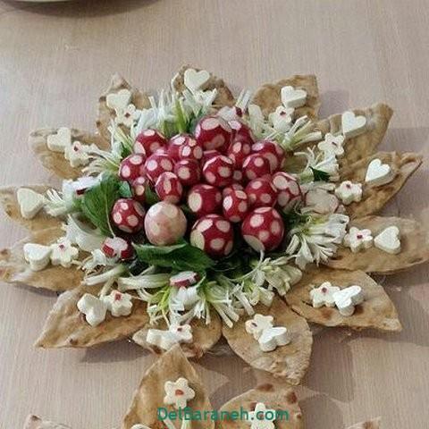 تزیین نون و پنیر افطار عقد (۲۰)