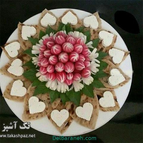 تزیین نون و پنیر افطار عقد (۲۳)