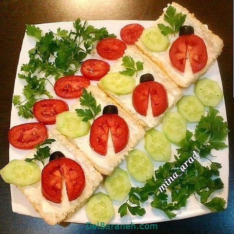 تزیین نون و پنیر افطار عقد (۲۴)