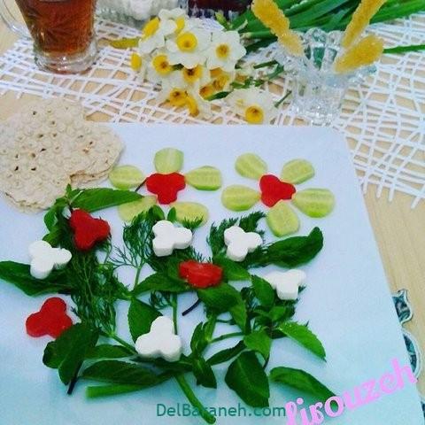 تزیین نون و پنیر افطار عقد (۶)