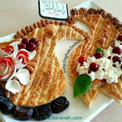 تزیین نون و پنیر افطار عقد (۷)