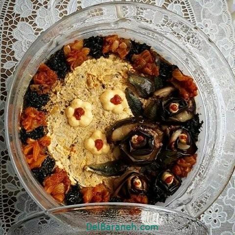تزیین کشک بادمجان (۱۲)