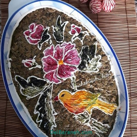 تزیین کشک بادمجان (۵)