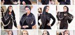 روسری مشکی مجلسی | ۳۳ مدل روسری مجلسی از برند کوکو به رنگ مشکی