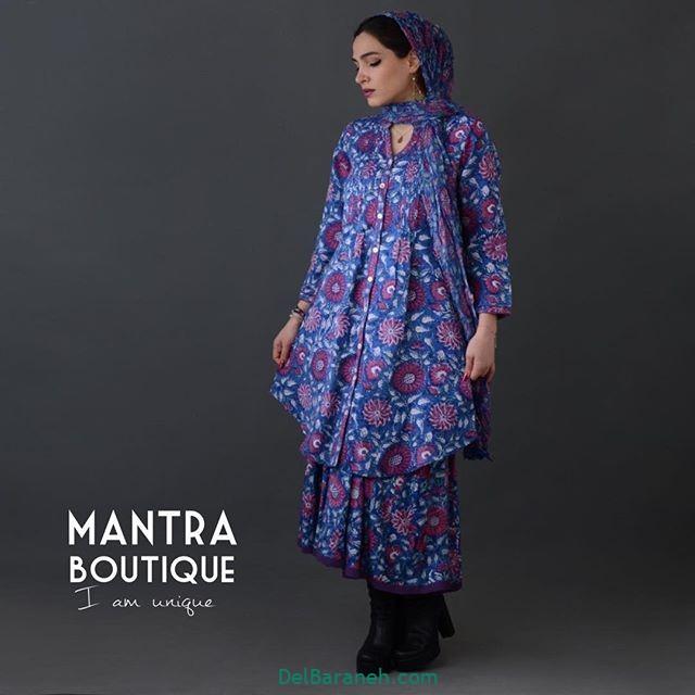 مانتو پیراهنی گلدار (۲۰)