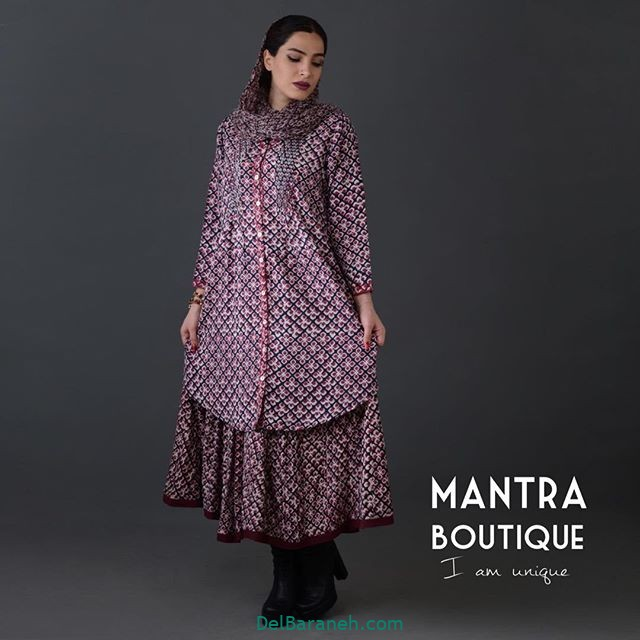 مانتو پیراهنی گلدار (۲۱)