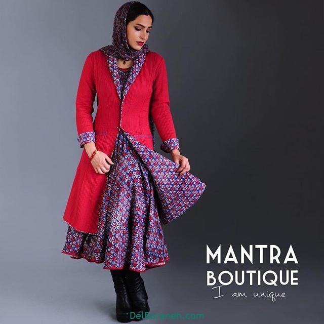 مانتو پیراهنی گلدار (۸)