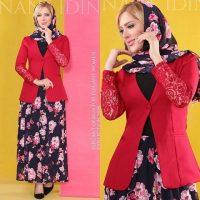 کت و دامن گلدار | ۴۴ مدل ست روسری و دامن گلدار دخترانه