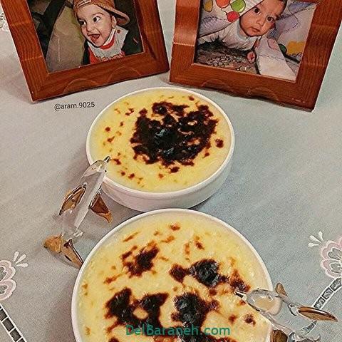 تزیین شیر برنج برای کودک