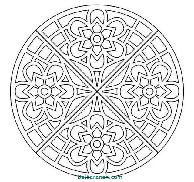 ماندالا (۱۲) ماندالا | ۴۰ طرح ماندالا (نقاشی درمانی ) از مبتدی تا پیشرفته