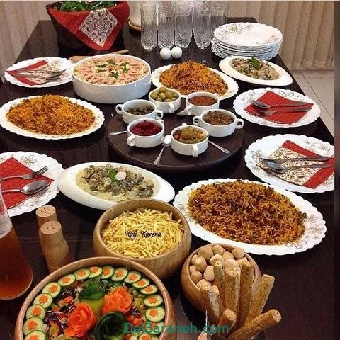 میز شام تولد (۴)