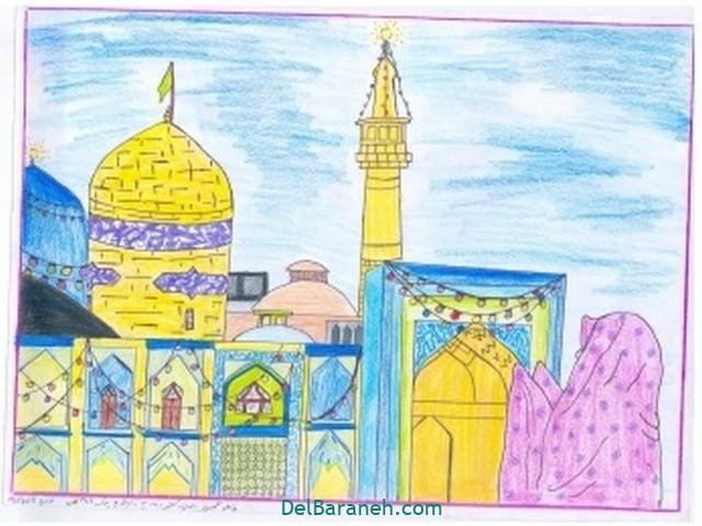 نقاشی امام رضا کودکانه (۱)
