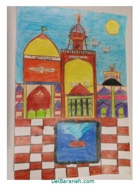 نقاشی امام رضا کودکانه (۱۰)