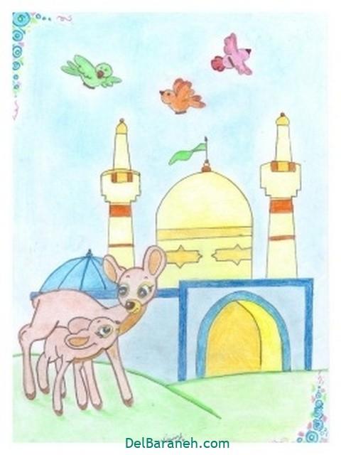 نقاشی امام رضا کودکانه (۱۴)