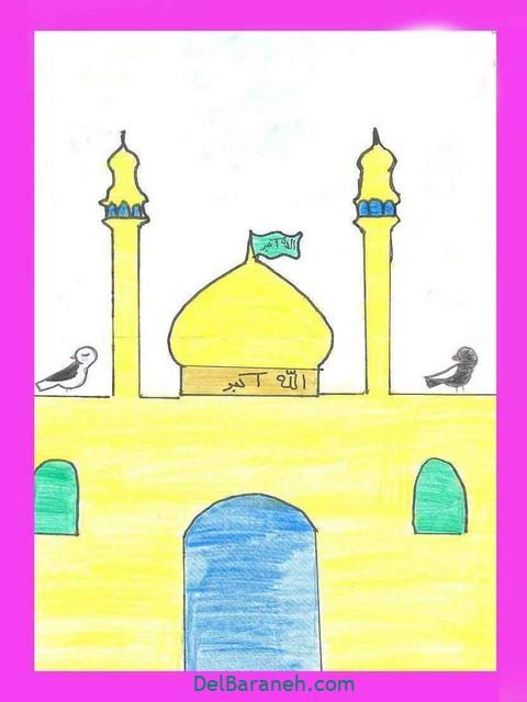 نقاشی امام رضا کودکانه (۱۹)
