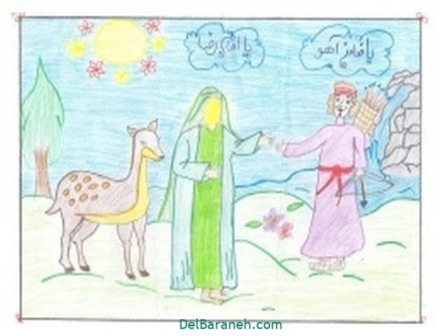 نقاشی امام رضا کودکانه (۶)