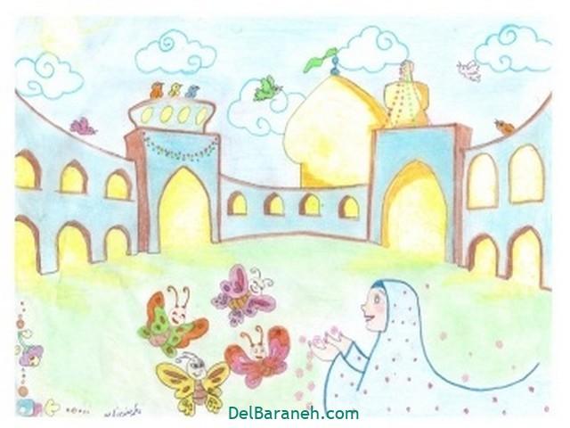 نقاشی امام رضا کودکانه (۷)