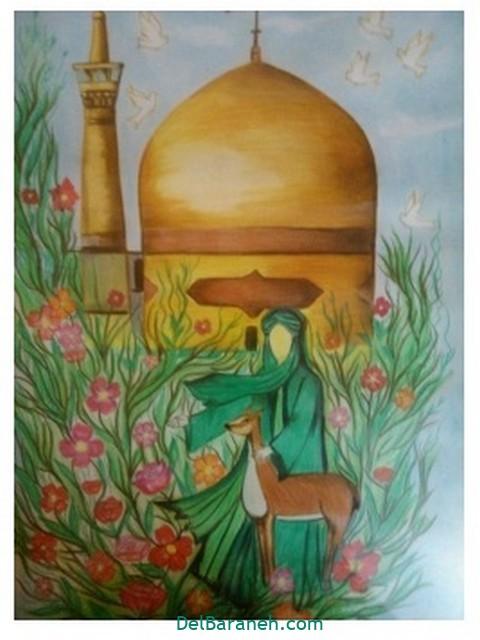 نقاشی امام رضا کودکانه (۹)
