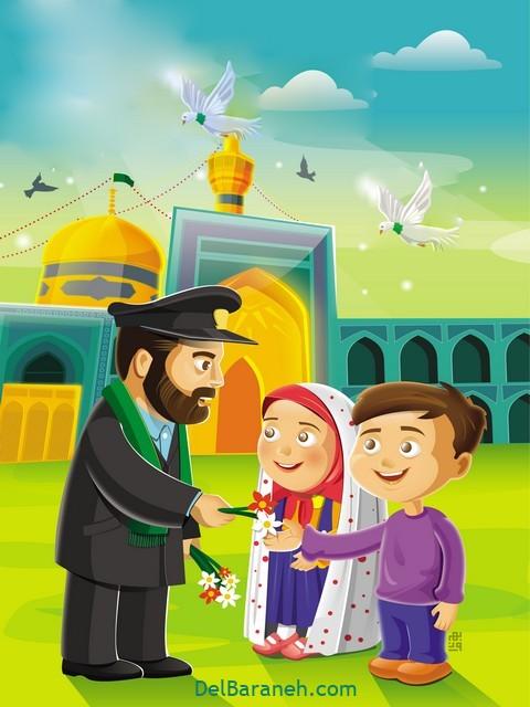 نقاشی امام ر ضا (۱۰)