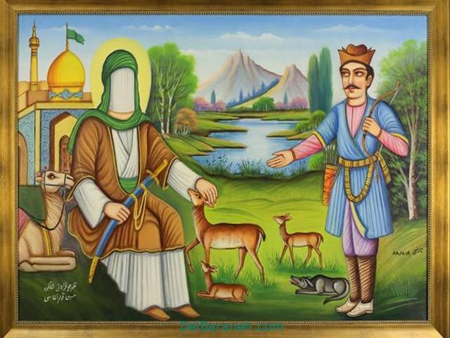 نقاشی امام ر ضا (۲۲)