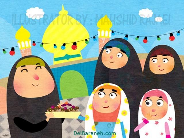 نقاشی امام ر ضا (۲۳)